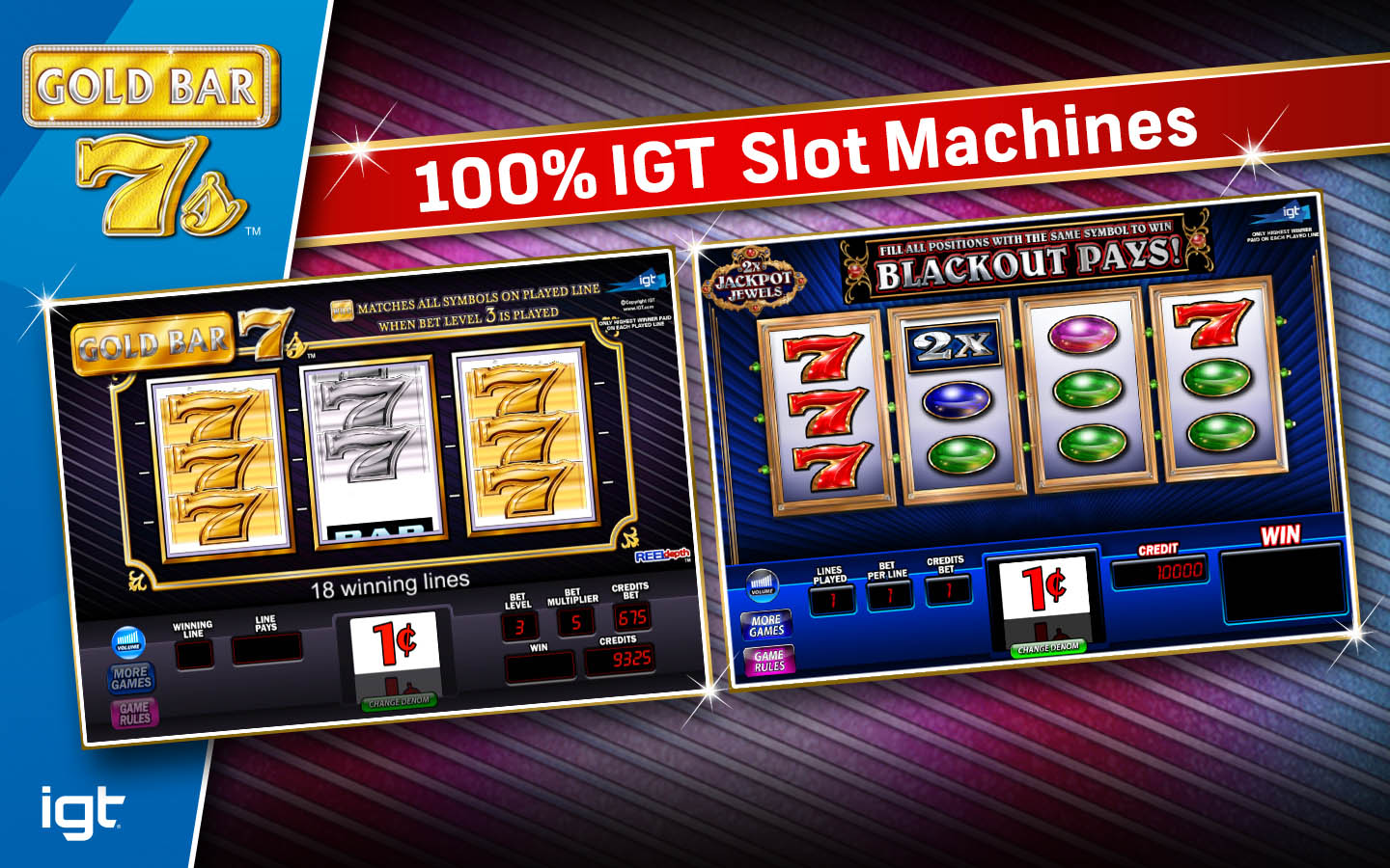 Slot machine where the gold