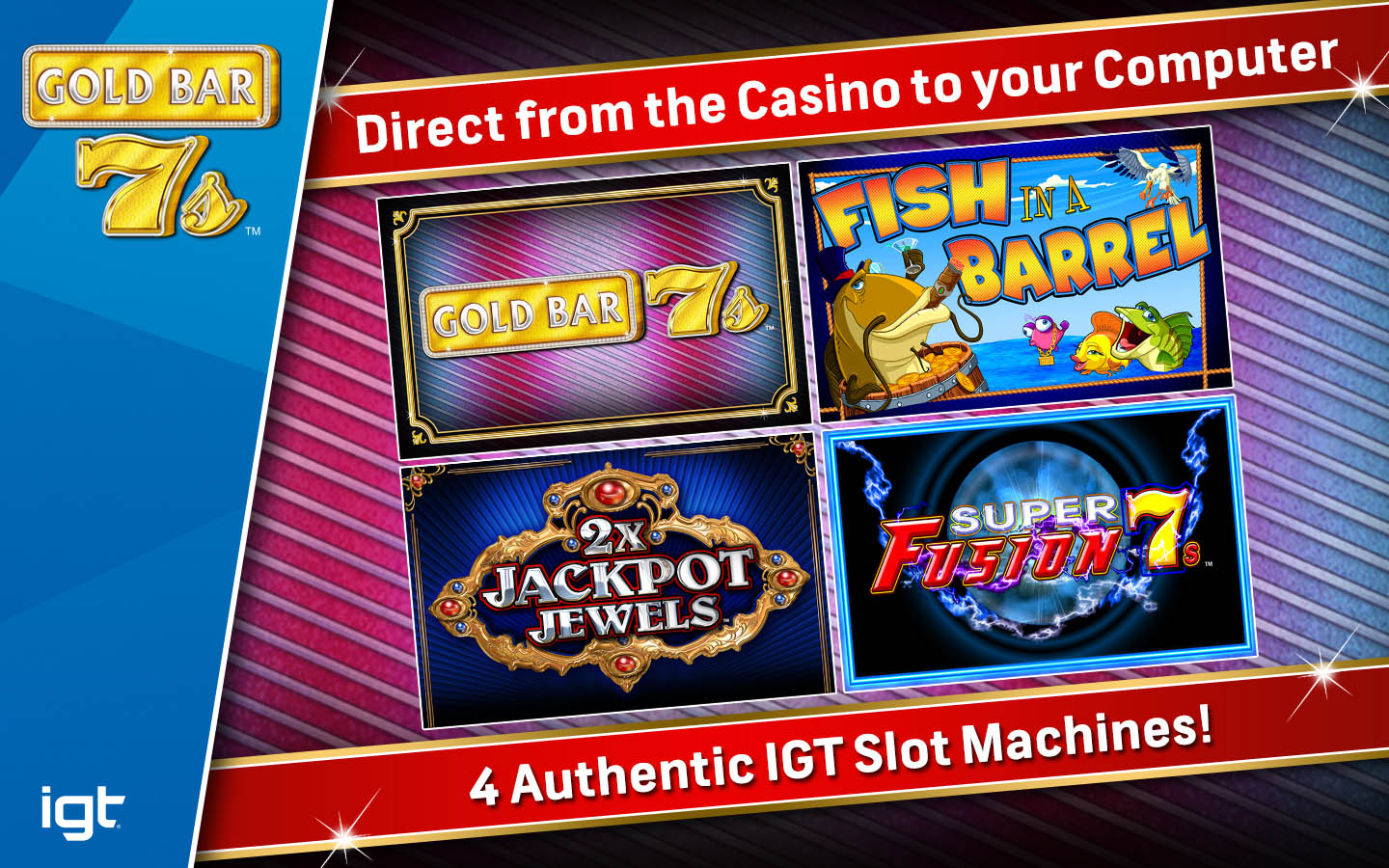 Igt slots gold bar 7 39 s mac buy and download on for Big fish casino gold bars