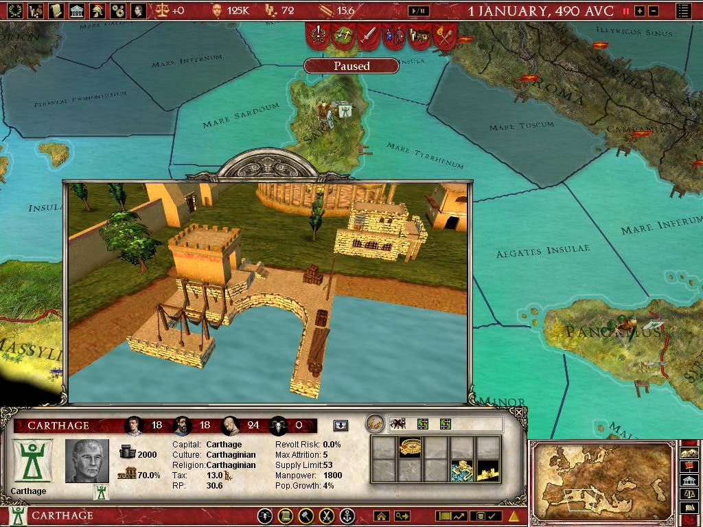 Europe Universalis Rome Gold Mac Buy And Download On GamersGate - Eu rome map